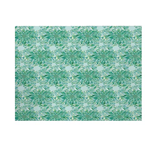 (Turquoise Decor Photography Background,Floral Pattern with Beryl Crystal Guilloche Flowers Carving Art Decorating Print Backdrop for Studio,20x10ft)