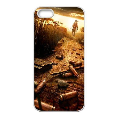 Far Cry 3 coque iPhone 4 4S Housse Blanc téléphone portable couverture de cas coque EOKXLLNCD13381