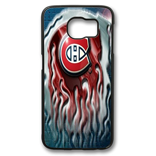 samsung galaxy s6 edge case, NHL Montr¨¦al Canadiens logo red background case for samsung galaxy s6