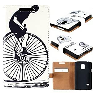 JJE Single Wheel Bike Pattern High-Grade PU Leather Full Body Case with Card Slot for Samsung Galaxy S5 Mini G800