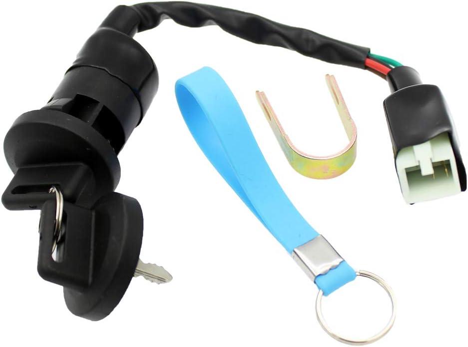 QAZAKY Ignition Key Switch for Polaris ATV Sportsman Outlaw Predator Scrambler Sawtooth 50 90 110 200 EFI 0453417 0450549
