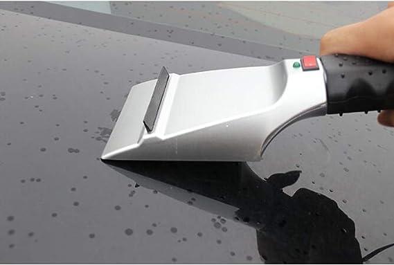 Zento Deals el/éctrico Auto Heated Nieve//Hielo Ventana rascador con Jack de 12/V Encendedor de Cigarrillos Bolsa de Hielo Remover