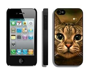 Custom-ized Design Christmas Cat iPhone 4 4S Case 12 Black