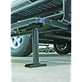 Camco Self-Stor Step - Mounts Under RV Steps to Stabilize Steps and Prevent RV Movement and Swaying, Lifts Up For Easy Storage After Use , One Time Installation (43671)