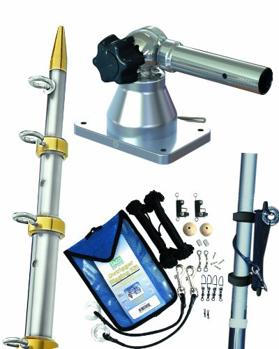 Taco Metals Grand Slam Outrigger Kit 170 Series Mounts, Silver/Gold Poles, 15 X 1 1/8-Inch