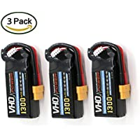 VHO LiPo Battery Pack 1300mAh 30C 3S 11.1V with XT60 Plug for RC Car Boat Truck Heli Airplane