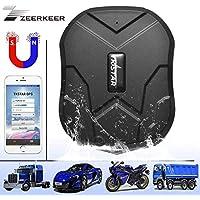 ZEERKEER Car Tracker Magnetic Hidden GPS Tracker for Vehicles Real-time GPS Vehicle Tracking Device Anti-Theft GPS Locator for Car/Motorcycle/Trucks/Bike/Fleet/Boat(5000mAh)