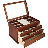 Real wood / Wooden Jewelry Box Case
