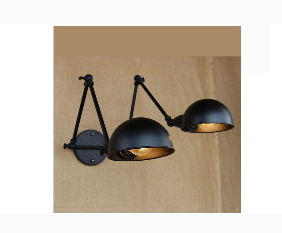 AllureFeng Luxus Antik schwarz Doppel Kopf Wandleuchte für Arbeitszimmer Café am Krankenbett Schlafzimmerwand Ligts