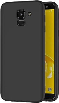 AICEK Funda Samsung Galaxy J6 2018, Negro Silicona Fundas ...