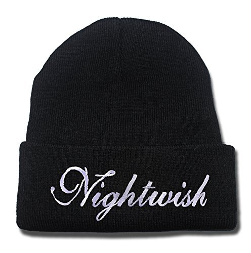 YUDUODUO Nightwish Band Logo Beanie Fashion Unisex Embroidery Beanies Skullies Knitted Hats Skull ()