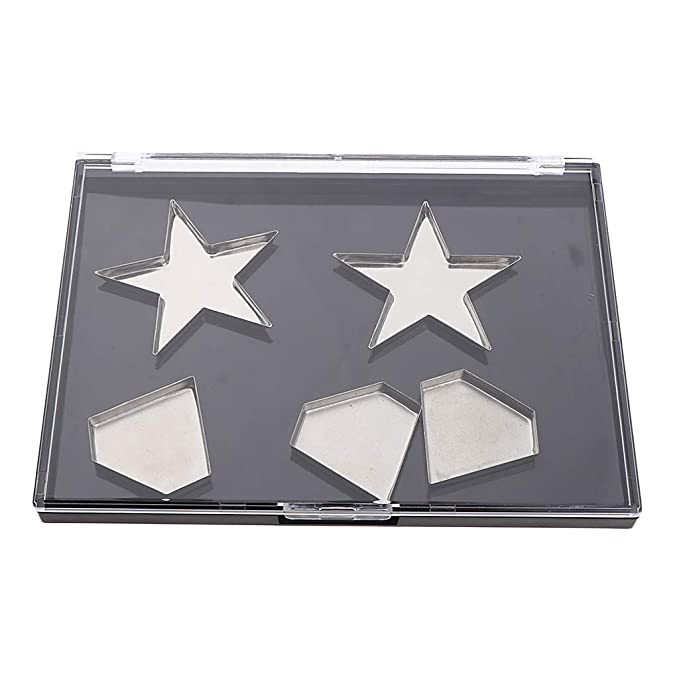 B Blesiya Profesionales Paletas de Sombras de Ojos con Piezas Sartenes de Estrella Diamante Cuadradas - Sartenes de diamante: Amazon.es: Belleza