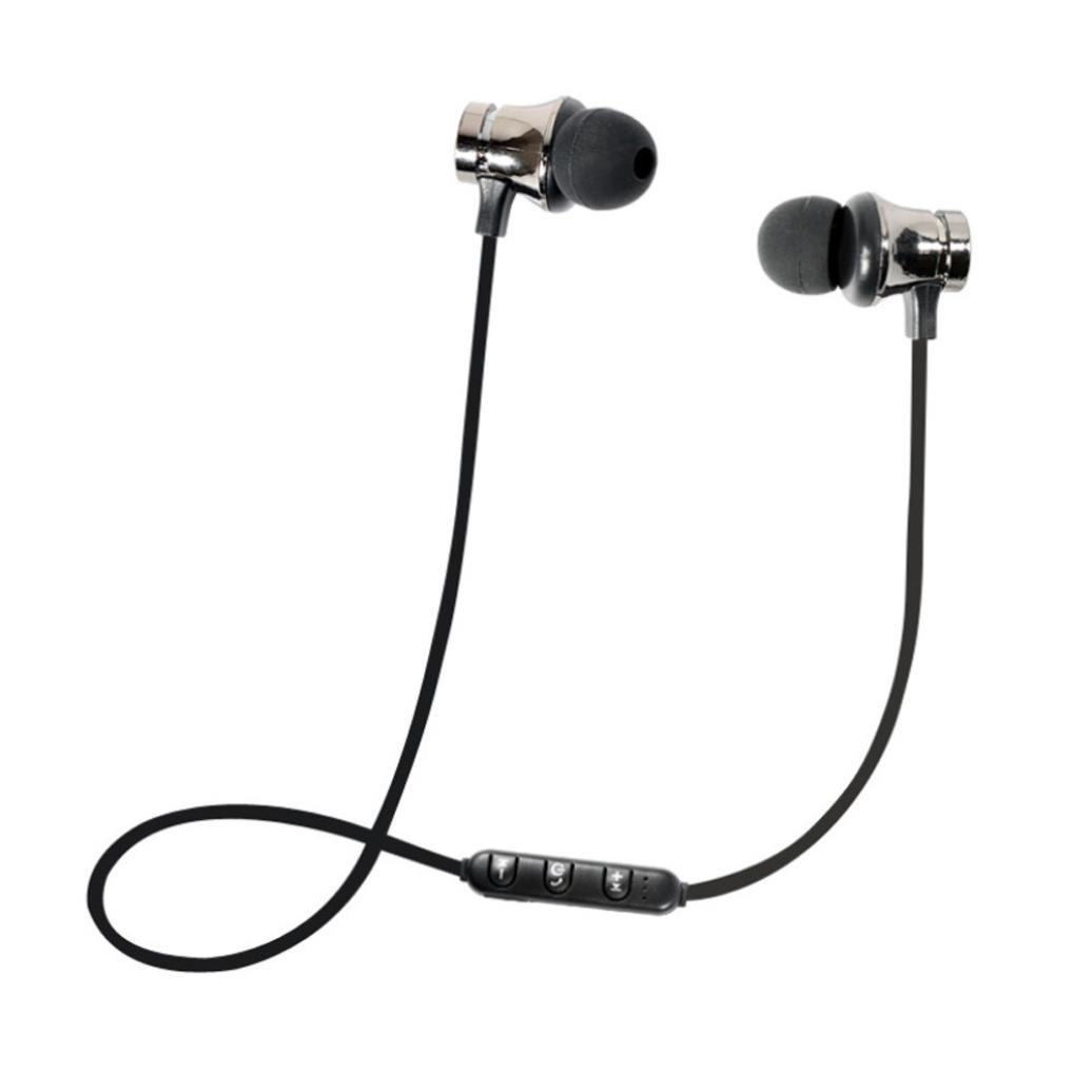 Bluetooth Headset,Sunfei BT 4.1 Stereo Earphone Headset Wireless Magnetic In-Ear Earbuds Headphone (❤️Black❤️)