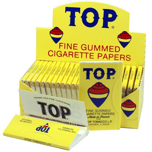 Top Rolling Papers - 70mm Single Wide Cigarette Papers - Full Box (24 Booklets) Single Cigarette