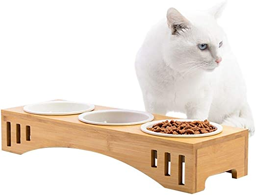Petacc Comedero para Gatos Tazón Elevado para Mascotas Combinado ...