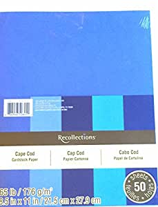 """Amazon.com: Recollections Cardstock Paper, 8 1/2"""" X 11 ..."""