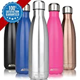 Sporting Goods : Modern Innovations 17oz Double Wall Vacuum Insulated Stainless Steel Water Bottles Leak Proof Keeps Drinks Hot and Cold for Outdoor Sports Camping Hiking Cycling (2 Pack)