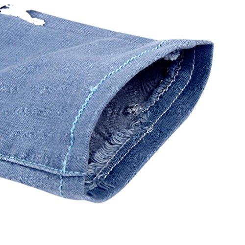 de Rawdah Skinny Pantalones Cosido Encaje Vaqueros Las Pantalones Señoras Denim Lápiz Mujeres qTrxTfC