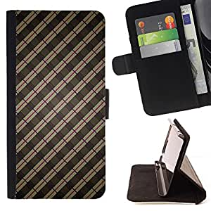 Momo Phone Case / Flip Funda de Cuero Case Cover - Stripes Wallpaper Gris Marrón Rojo aleatoria - Sony Xperia Z2 D6502