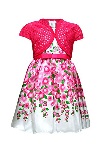 caf952bea Youngland Little Girls' Floral Border Print Shantung Dress with ...