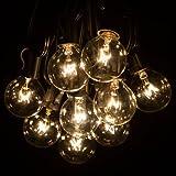 100 Foot Globe Patio String Lights - Set of 100 G40 Clear Bulbs