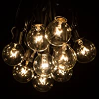 100 Foot Globe Patio String Lights - Set of 100 G40 Clear Bulbs from Hometown Evolution, Inc.