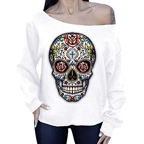 iZHH Womens Fashion Long Sleeve O-Neck Off Shoulder