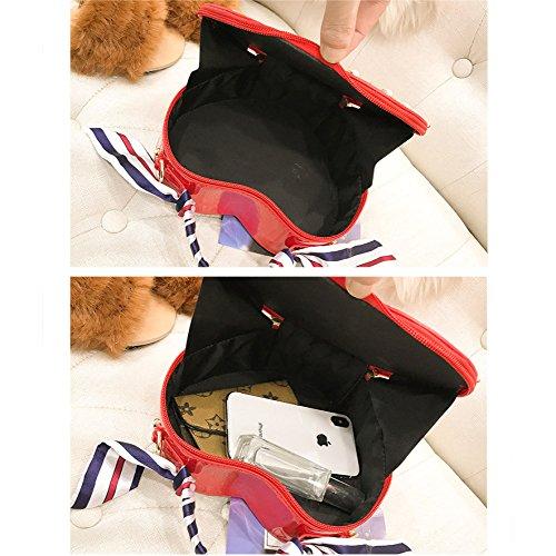 En Bandoulière Rivets Fille Nouvelle Vague Sac Coeur Version Portable Paquet De à Diagonale Femelle Coréenne XIAOLONGY skyblue Forme zZqw0w