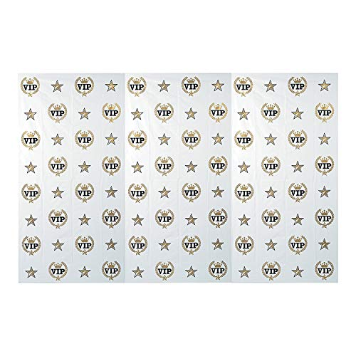 Fun Express  Plastic VIP Hollywoord Banner,, Black, Gold and White, (IN-13751709), (1 Piece)	]()