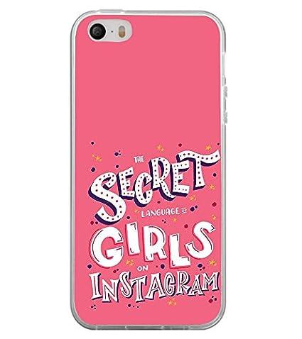 Fuson Secret Girls Instagram Designer Back Case Cover For Apple IPhone 5S ( Love Quotes Inspiration
