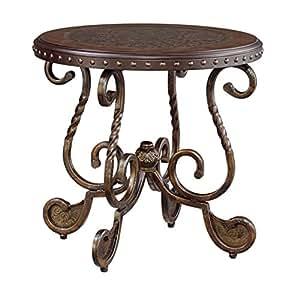 Ashley Furniture Signature Design - Rafferty End Table - Round - Vintage Brown