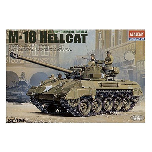 - Academy M-18 Hellcat U.S Army 1/35 Plastic Model Kit Europe M 18 Super Hellcat By Academy