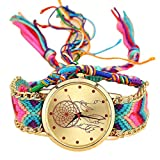 Yoyorule Handmade Ladies Vintage Quartz Watch Dreamcatcher Friendship Watches (A)
