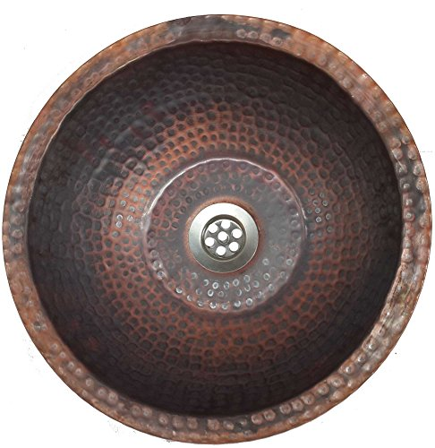 Hammered Copper Bathroom Sink - 8