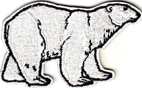 - Polar Bear Iron On Embroidered Patch Animals Arctic Zoo