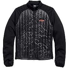 Harley-Davidson Mens Gear Wheel Packable Down Mid-Layer Jacket Black. 98554-15VM