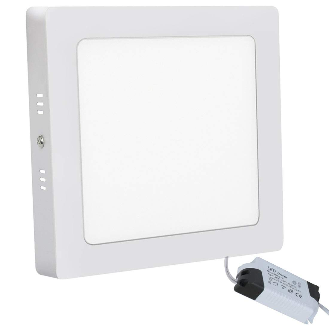 12W LED Ceiling Panel Light Square Lamp 3000K 720LM for Living Room Kitchen Corridor Conference Room Office Light Weight Energy Saving Warm White XYD