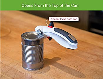 Zyliss Lock N' Lift Can Opener With Lid Lifter Magnet, White 7