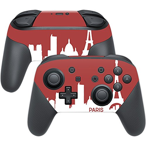 MightySkins Skin Compatible with Nintendo Switch Pro Controller - Paris | Protective, Durable, and Unique Vinyl Decal wrap Cover | Easy to Apply, Remove, and Change Styles | Made in The USA