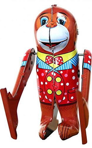 (Alexandor Taron Home Decor Collectible Tumbling Monkey Tin Toy)