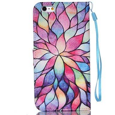 Fundas y estuches para teléfonos móviles, Modelo de flor de la caja del teléfono de la PU carta invertida material de cuero para el iphone 6 más / 6s más ( Modelos Compatibles : IPhone 8 Plus ) IPhone 8 Plus