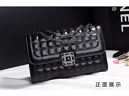 Sac Fashion black main à unique diamant XWAN coréen Lady Nouvelle épaule épaule Sac chaîne wqpPdxdaZ