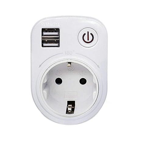 Temporizador Digital Programable, USB inteligente Interruptor de alimentación digital Salida del temporizador Electrodomésticos con puerto