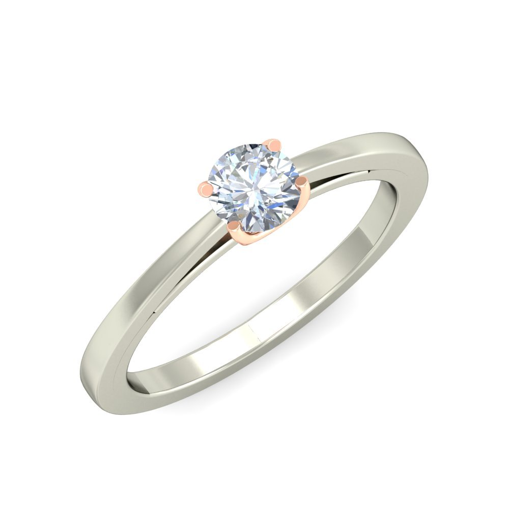 Buy Simple Silver Diamond Ring At Amazon In