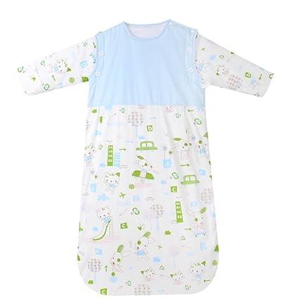 TUWEN Bebé Bolsa De Dormir Algodón Bebé Primavera Verano Bebé Acondicionador Es Saco De Dormir De