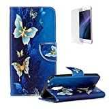 Funyye Magnetic Flip Cover for Xiaomi Pocophone F1,Premium Stylish Luxury Butterfly Pattern Stand Card Holder Slots Cover Wallet PU Leather Case with Soft Silicone for Xiaomi Pocophone F1 + 1 x Free Screen Protector