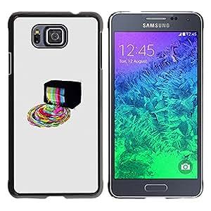 Caucho caso de Shell duro de la cubierta de accesorios de protección BY RAYDREAMMM - Samsung ALPHA G850 - Psychedelic Rainbow TV