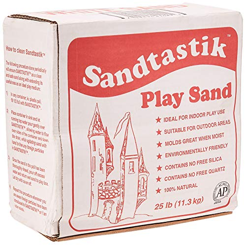 Sandtastik Sparkling White Play Sand, 25 Pounds (Sparkling Natural Clean)