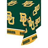 Club Pack of 12 Green and Yellow Baylor University NCAA Plastic Picnic Party Table Covers 108''