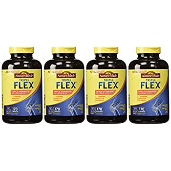 Image of Nature Made TripleFlex - Glucosamine Chondroitin and MSM - 4 Bottles, 170 Caplets Each Health and Household